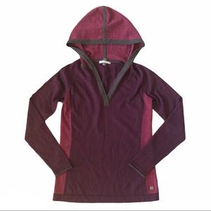 SMARTWOOL Drape Neck Hooded Sweater Hoodie Small